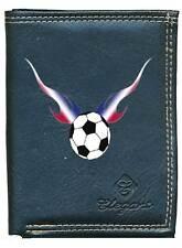 Petit Portefeuille Homme, porte monnaie papiers Flamme Foot Football