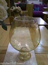 Endon Lighting Glass Hurricane Vase in Orange Luster