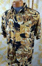 """PANAMA JACK - """"Gold Parrot Beer Stein"""" Hawaiian Shirt Sz XL Rayon"""