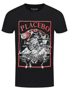 T-shirt Placebo Astro Skeletons Men's Black