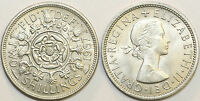 1953 to 1967 Elizabeth II Cupro-Nickel Florin Your Choice of Date