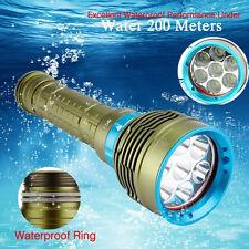 Scuba 20000LM 7x XM-L2 LED Diving Taschenlampe Wasserdicht Torch Underwater 200m