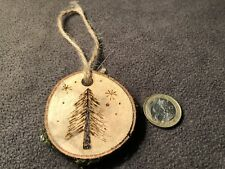Christmas Tree Decorations, Live Edge Solid English Oak, Various Designs.