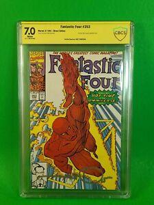 Fantastic Four 353 CBCS 1st Mobius on Cover SIGNED Simonson SS Yellow Label Loki