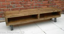Tv stand Large rustic industrial contemporary tv stand suitable for large tv's