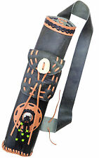 TARGET FINE ANTIQUE LEATHER BACK ARROW HAND MADE QUIVER ARCHERY PRODUCT AQ170