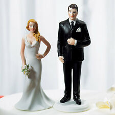 Glamorous Sexy Curvy Bride  Wedding  Cake Topper Custom  Hair Colors Available