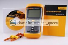 Fluke 52 Ii Dual Input Digital Thermometer With Two 80pk 1 Thermocouples F52 2