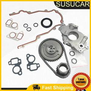 For 97-04 Cadillac Chevrolet 4.8 5.3 6.0 Timing Chain Kit Cover Gasket Oil Pump