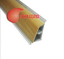 ALZATINA PVC BORDO STONDATO TOP PIANO CUCINA CM.200X2,5X4H. COLORE FAGGIO