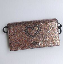 Coach * Keith Haring Glitter Foldover Cluth with Strap F65687 QBL38 COD PayPal