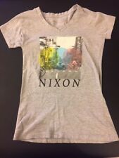 NIXON WATCHES TEE SHIRT SIZE GIRLS SMALL GRAY LIMITED EDITION 750 MADE!!
