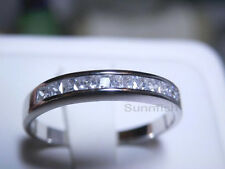 925 SOLID STERLING SILVER 1.00 CARAT PRINCESS CUT ENGAGEMENT WEDDING RING SIZE 5