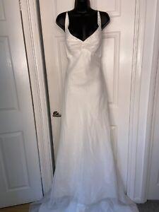 Eternity Bridal A Line Ivory Wedding Bridal Dress Size 12-14