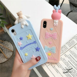 Cute Cinnamoroll Melody Silicone Rubber Case For iPhone 12 11 Pro XS Max XR 7 8+