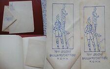BUSTA E FOGLIO CARTA LETTERA INTESTATI 781.a LEGIONE BALILLA MOSCHETTIERI ROMA 2