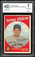 1959 Topps #515 Harmon Killebrew Card BGS BCCG 7 Very Good+