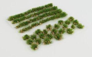 WWS 6mm Summer Alpine Static Grass Modeling Tufts/Strips Mix -Railroad Warhammer
