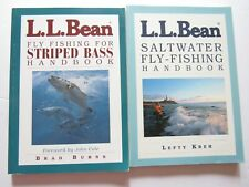 2 L. L. Bean Fly Fishing Books - Striped Bass and Saltwater Handbooks