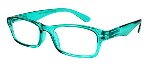 Edge I-Wear Classic Unisex Square Frame w/Spring Hinge Readers 39403S …