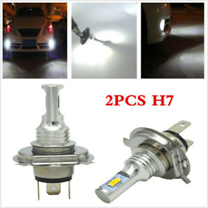 2x H7 LED Headlights Bulbs 35W 4000LM Kit High/Low Beam Daytime Running Lights