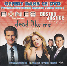 DVD CARTONNE COLLECTOR BONES/BOSTON JUSTICE/DEAD LIKE ME NEUF SCELLE  !!!