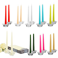 Taper Candles Smokeless Dripless  Color Tapered Candle sticks  - 12 Pack