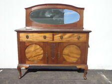 Antique Cabinet Buffet Shabby Chic Primitive Sideboard Hutch Wood TV Console