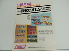 Permax Motorcycle Decals And Bumper Stickers Brochure Honda BSA Suzuki L1293