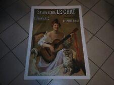 Affiche poster 50cm par 70cm savon le chat Banania chocolat éditions Clouet