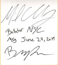 Michael Chandler & Brent Primus Signed Shikishi BAS Beckett COA Bellator MMA MSG