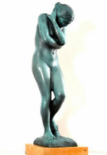 Handmade Bronze Sculpture - Nude Eva Signed A. Rodin On Marble Plate
