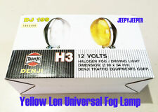 "DJ199 Yellow Len Universal Halogen Fog Light Spot Lamp H3 12V 55W  3"" 90 x 54 mm"