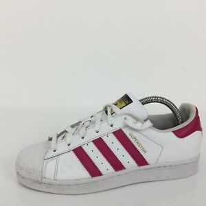 Adidas Superstar White Leather Sports Trainer Sneaker B23644 Size UK 6.5 Eur 40
