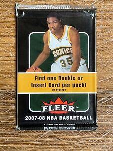 2007-08 Fleer basketball card pack unopened sealed Kevin Durant RC