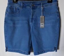 "WOMEN'S SHORTS ROCKMANS DENIM SIZE 14/32"" LEG 8.5"" NEW WITH TAGS FREE POSTAGE"