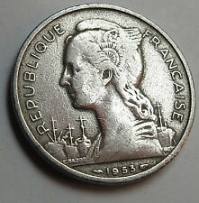 A  Rare Coin of French Madagascar 5 Franc coin 1953