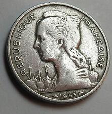 A  Rare Coin of French Madagascar 5 Franc coin 1953