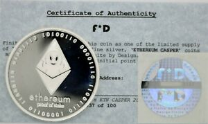 Ethereum 2017 Cold Storage ETH Coin w Hologram and COA Collectors Wallet #89/100