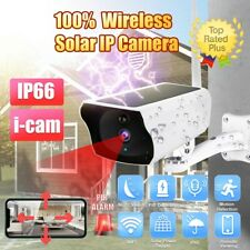 Wire-free Solar IP Camera Outdoor Wifi Charge Battery Security Night Vision Cam