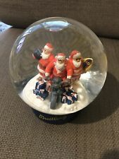 More details for collectable breitling christmas santas w surfboard & motorbike glass snow globe