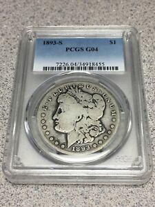 1893 S Morgan Silver Dollar PCGS G4 G04 Beautiful Coin Full Rim Key Date *LOOK*