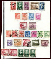 CHILE 26 STAMPS LOT ON ALBUM SHEET, VF
