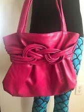 Women's Fuschia  Faux Leather  Handbag, Shoulder Bag, Purse, Satchel. Very Nice!