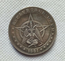US 1881 Morgan Dollar Satan Coin