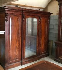 More details for large victorian mahogany wardrobe