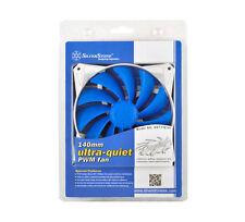 Silverstone FQ141 120mmx120mmx25mm Blue Blade Silent 4Pin PWM Case Fan, 4Pin PWM