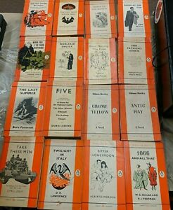 Sixteen Penguin Books paperback