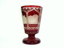 Seltenes Extraordinary Glas about 1880 Chateau D'Oberstein Baden Principale