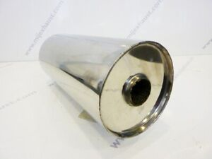 "Universal  5"" x 2"" x 18"" Silencer Back Box Exhaust Resonator Muffler Stainless"